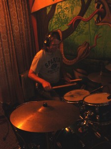 "Rich on drums for the Marcsonic ""Next Level"" session, Sparta Sound, July 2013"